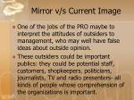 mirror v s current image