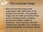 the corporate image