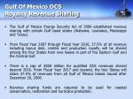 gulf of mexico ocs royalty revenue sharing