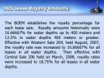 ocs lease royalty amounts
