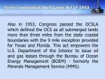 outer continental shelf lands act of 1953
