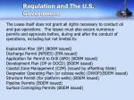 regulation and the u s government
