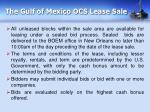 the gulf of mexico ocs lease sale