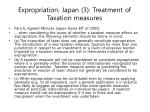 expropriation japan 3 treatment of taxation measures