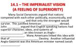 14 1 the imperialist vision a feeling of superiority