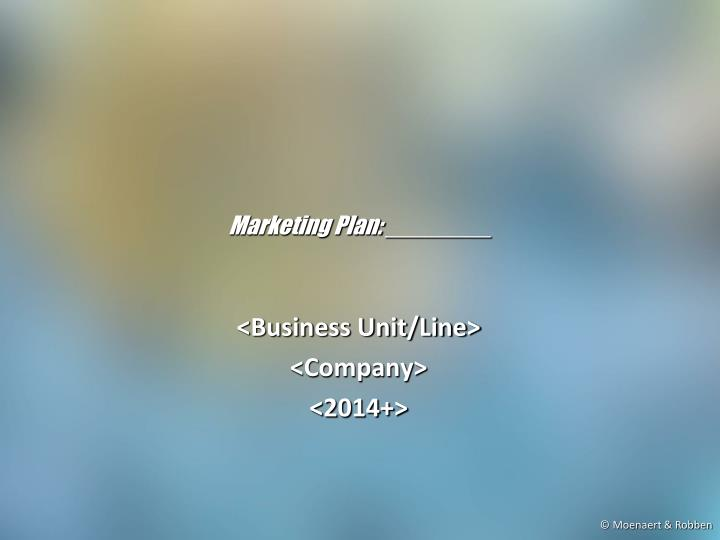 marketing plan n.