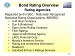 bond rating overview