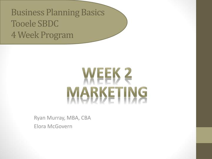 business planning basics tooele sbdc 4 week program n.