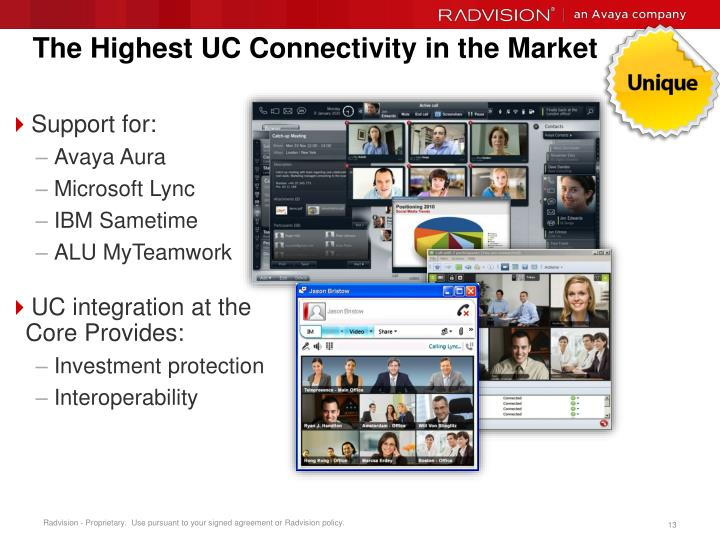 The Highest UC Connectivity in the Market