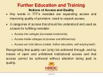 further education and training1