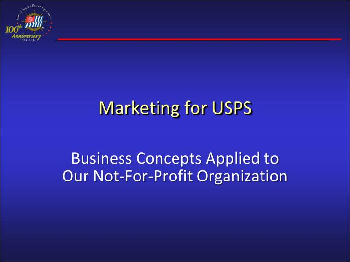 marketing for usps n.