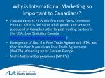 why is international marketing so important to canadians