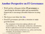another perspective on it governance