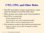 cto cpo and other roles