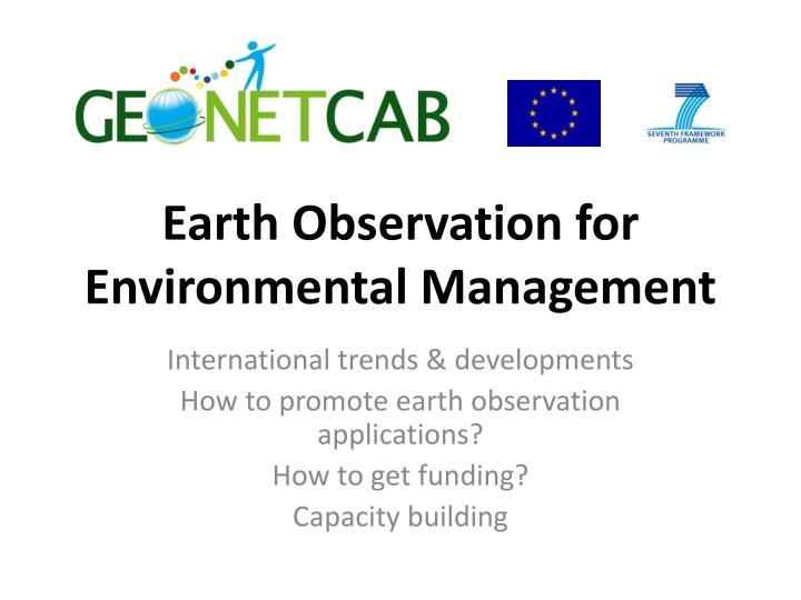 earth observation for environmental management n.