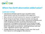 where has earth observation added value1