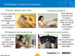 challenges in invoice processing