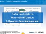 kofax forrester rate kofax as leader 1