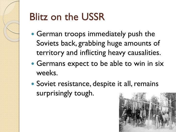 Blitz on the USSR
