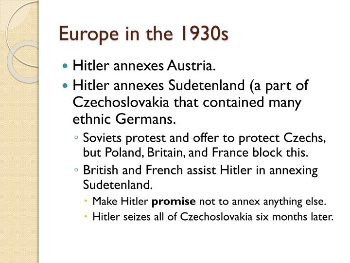 Europe in the 1930s