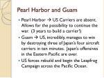 pearl harbor and guam