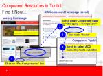 component resources in toolkit find it now