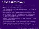 2010 it predictions