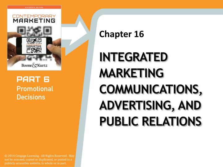 integrated marketing communications advertising and public relations n.