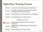 eight hour training course
