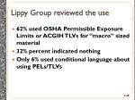 lippy group reviewed the use