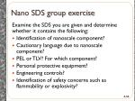nano sds group exercise