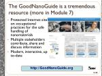the goodnanoguide is a tremendous resource more in module 7