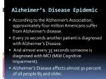 alzheimer s disease epidemic