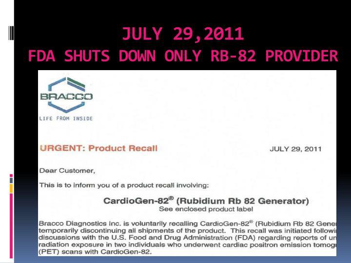 JULY 29,2011