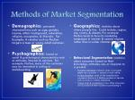 methods of market segmentation