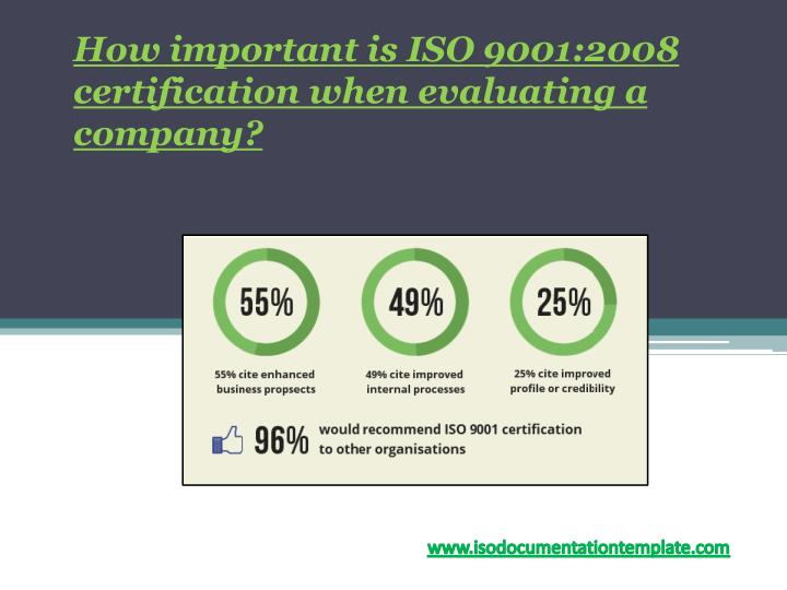 how important is iso 9001 2008 certification when evaluating a company n.