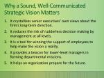 why a sound well communicated strategic vision matters