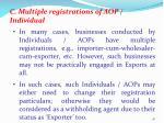 c multiple registrations of aop individual