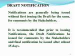 draft notification