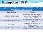 exemptions sst
