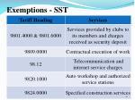 exemptions sst2