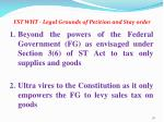 fst wht legal grounds of petition and stay order