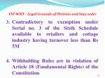 fst wht legal grounds of petition and stay order1