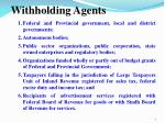 withholding agents