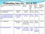 withholding sales tax sst pst