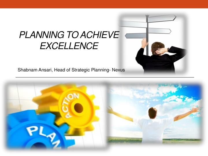 planning to achieve excellence n.