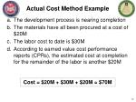 actual cost method example