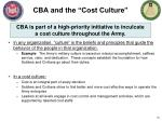 cba and the cost culture
