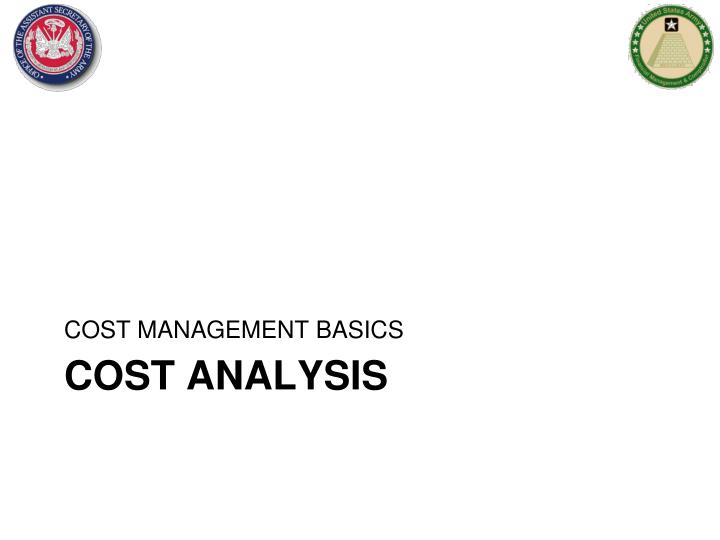 cost analysis n.