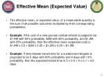 effective mean expected value